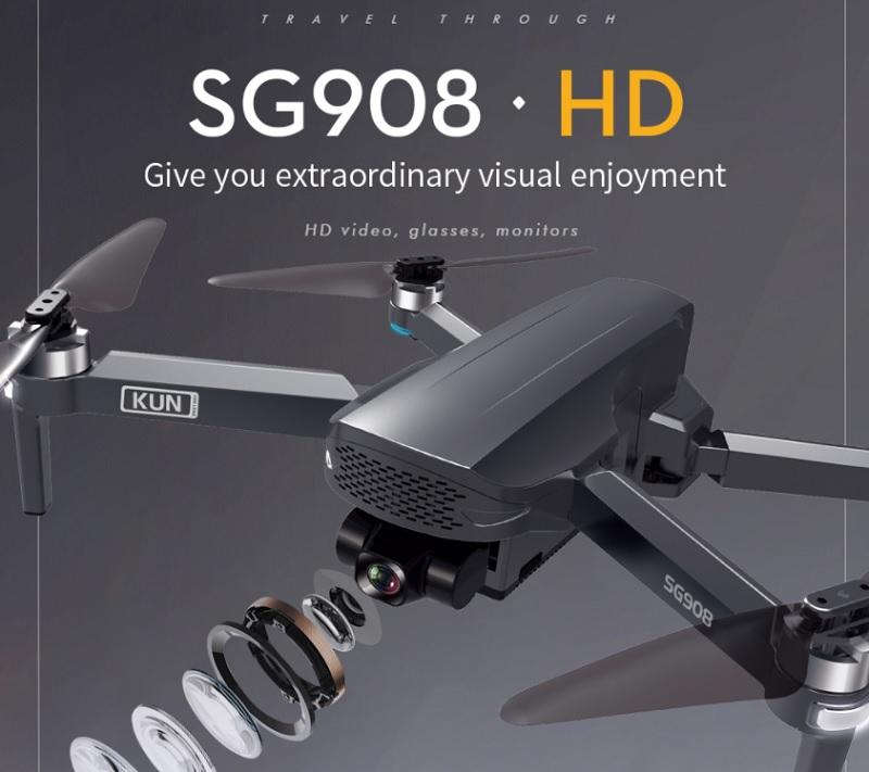 قیمت و خرید کوادکوپتر ZLRC SG908 از سایما استور - خرید کوادکوپتر دوربین دار اس جی908